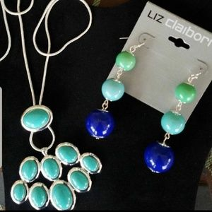 Brand new liz necklace and earrings
